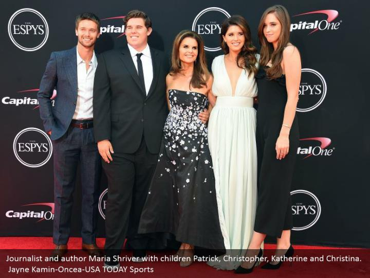 Journalist and author Maria Shriver with children Patrick, Christopher, Katherine and Christina.  Jayne Kamin-Oncea-USA TODAY Sports