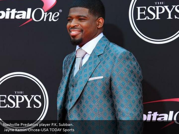 Nashville Predators player P.K. Subban.  Jayne Kamin-Oncea-USA TODAY Sports