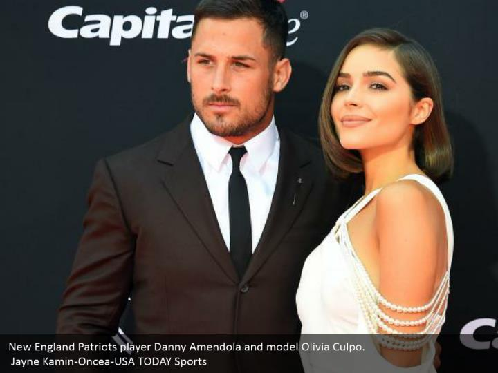 New England Patriots player Danny Amendola and model Olivia Culpo.  Jayne Kamin-Oncea-USA TODAY Sports