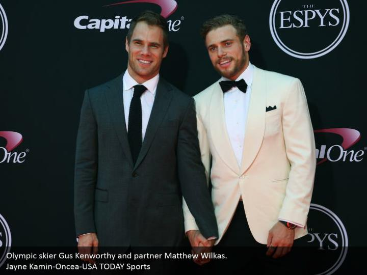 Olympic skier Gus Kenworthy and partner Matthew Wilkas. Jayne Kamin-Oncea-USA TODAY Sports