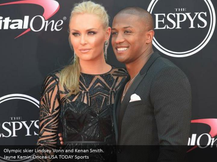 Olympic skier Lindsey Vonn and Kenan Smith. Jayne Kamin-Oncea-USA TODAY Sports