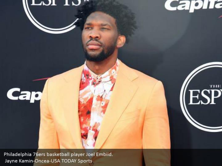 Philadelphia 76ers basketball player Joel Embiid.  Jayne Kamin-Oncea-USA TODAY Sports