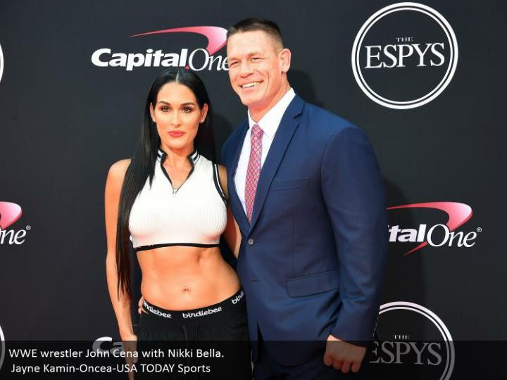 Wwe wrestler john cena with nikki bella jayne