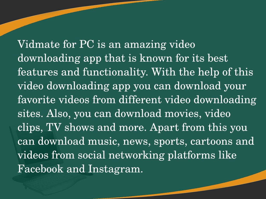 PPT - Download Vidmate For Pc And Laptops PowerPoint