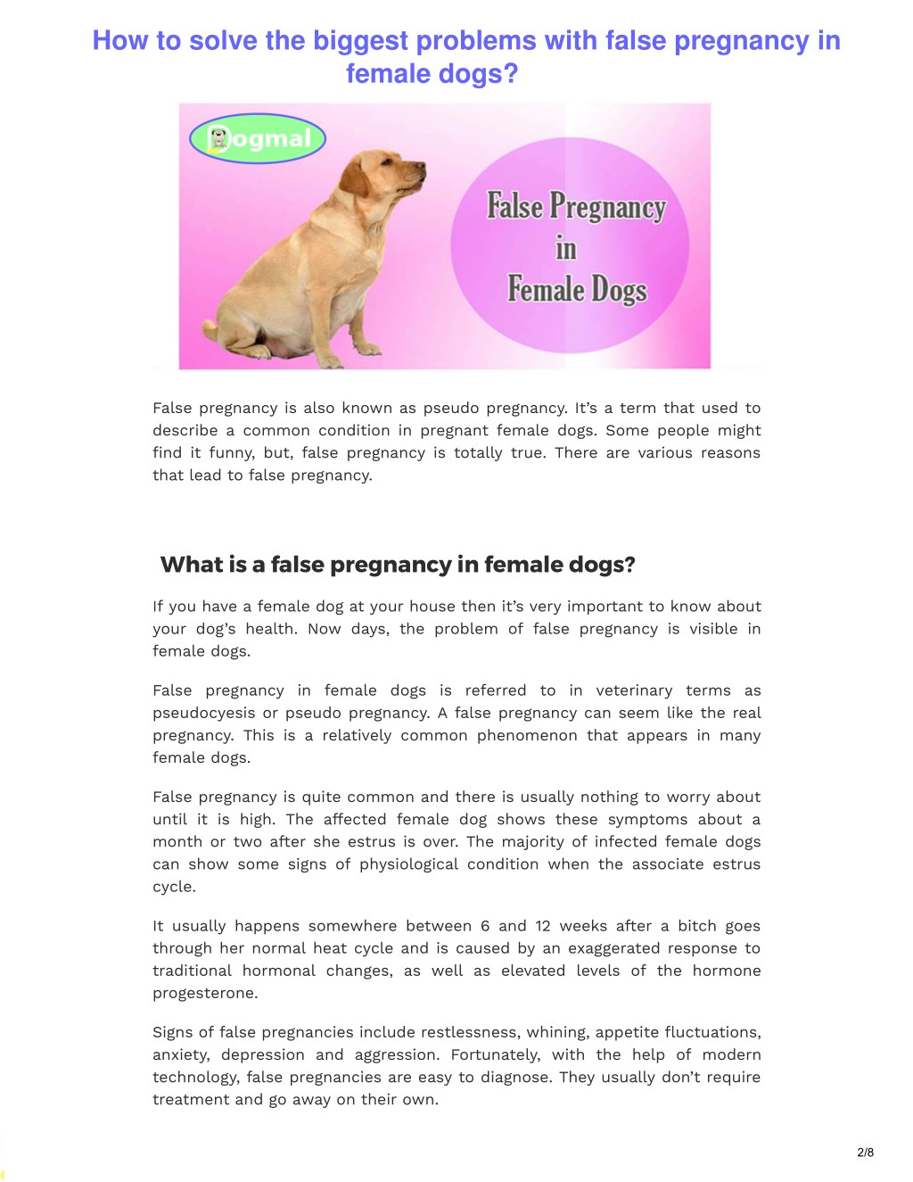 PPT - How to solve the biggest problems with false pregnancy
