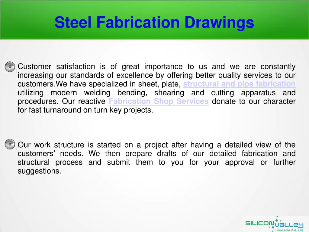 PPT - Steel Fabrication Drawings Services - SiliconInfo