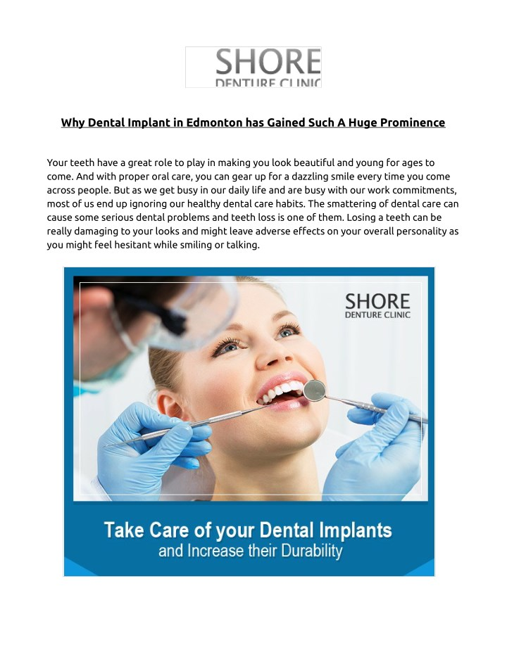 why dental implant in edmonton has gained such n.