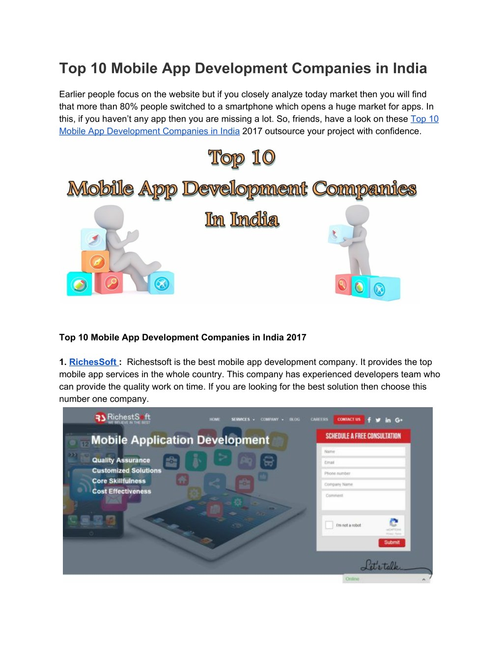Ppt Top 10 Mobile App Development Companies In India Powerpoint Presentation Id 7632763