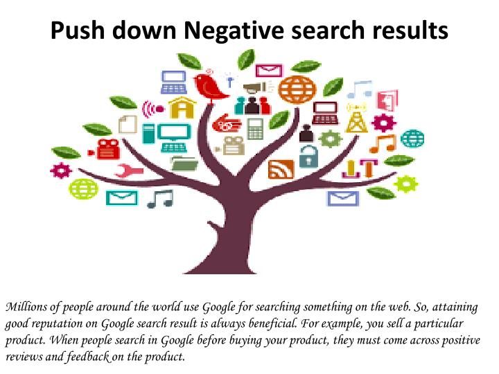 Push down negative search results 1