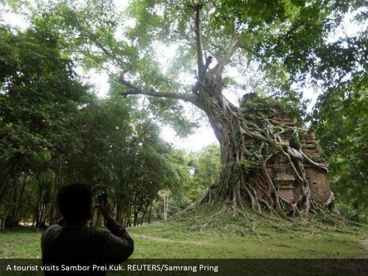 A tourist visits Sambor Prei Kuk. REUTERS/Samrang Pring