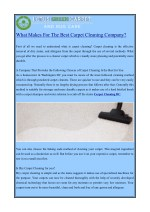 what makes for the best carpet cleaning company