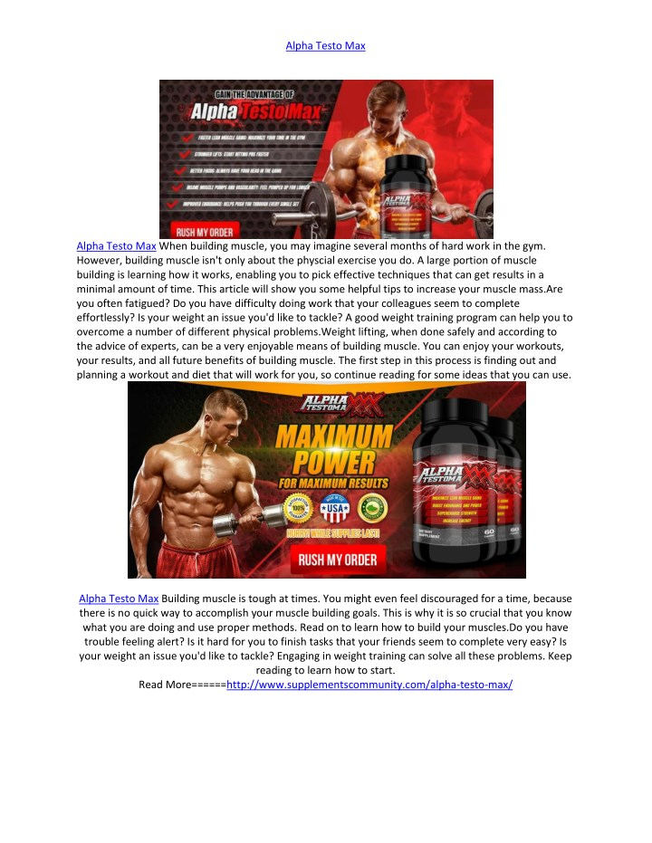 PPT - http://www supplementscommunity com/alpha-testo-max