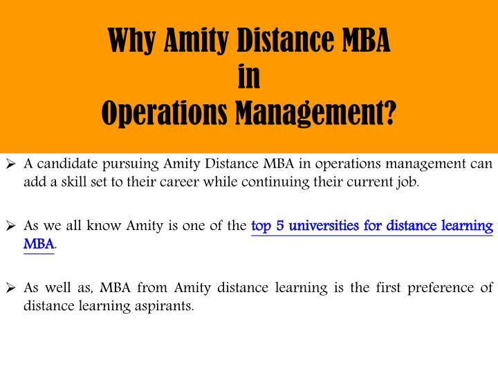 mba in operations management The post graduation diploma in operations management module covers some of the contemporary challenges faced within the corporate arena accordingly, production planning and control, project management and world-class manufacturing are among the many critical concepts covered in this module.
