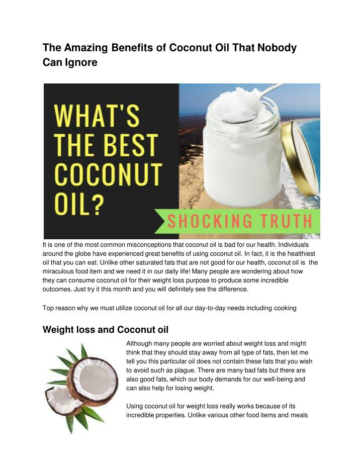 PPT - Which kind of coconut oil is best for health and