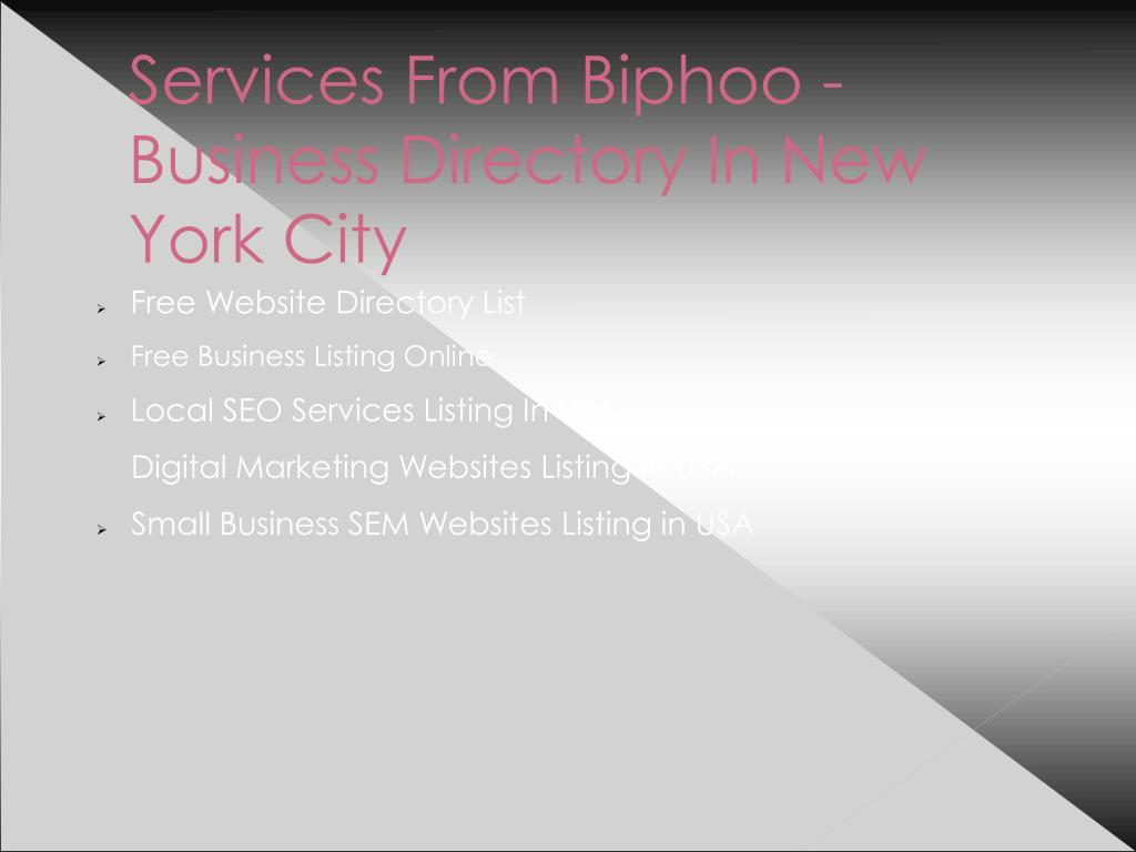 PPT - New York Free Business Directory PowerPoint