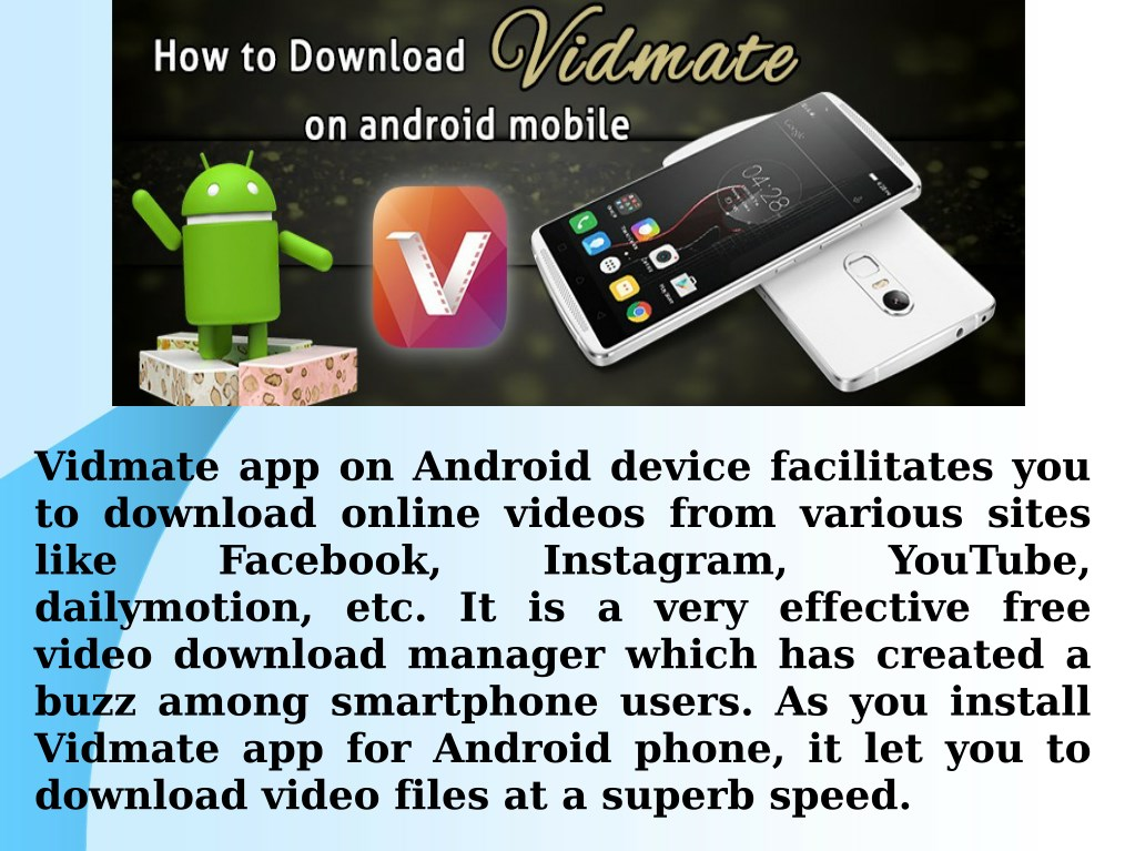 PPT - Install Vidmate App On Android Device PowerPoint Presentation