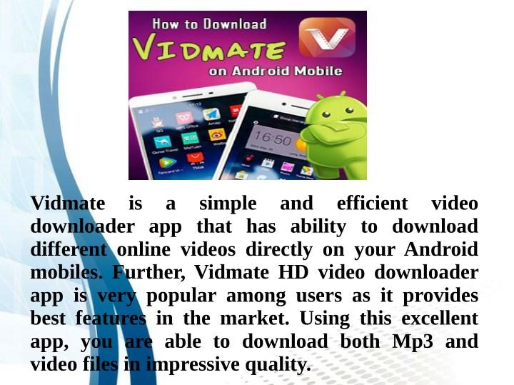 vidmate online video download