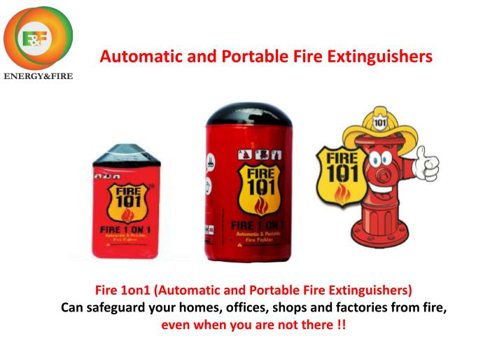 automatic and portable fire extinguishers n.