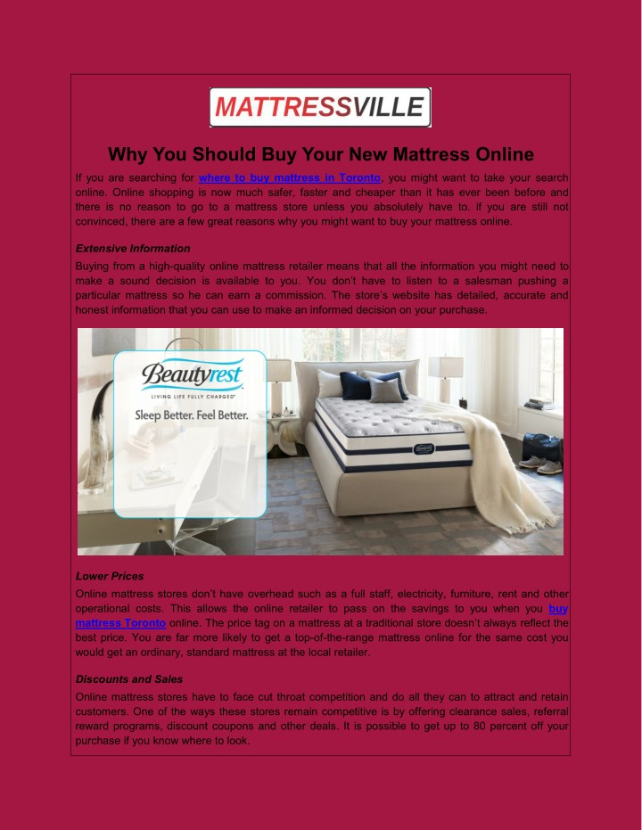 why you should buy your new mattress online n.