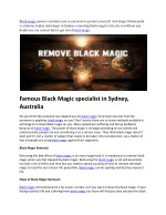 black magic powers can harm you so you have