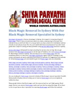 black magic removal in sydney with our black