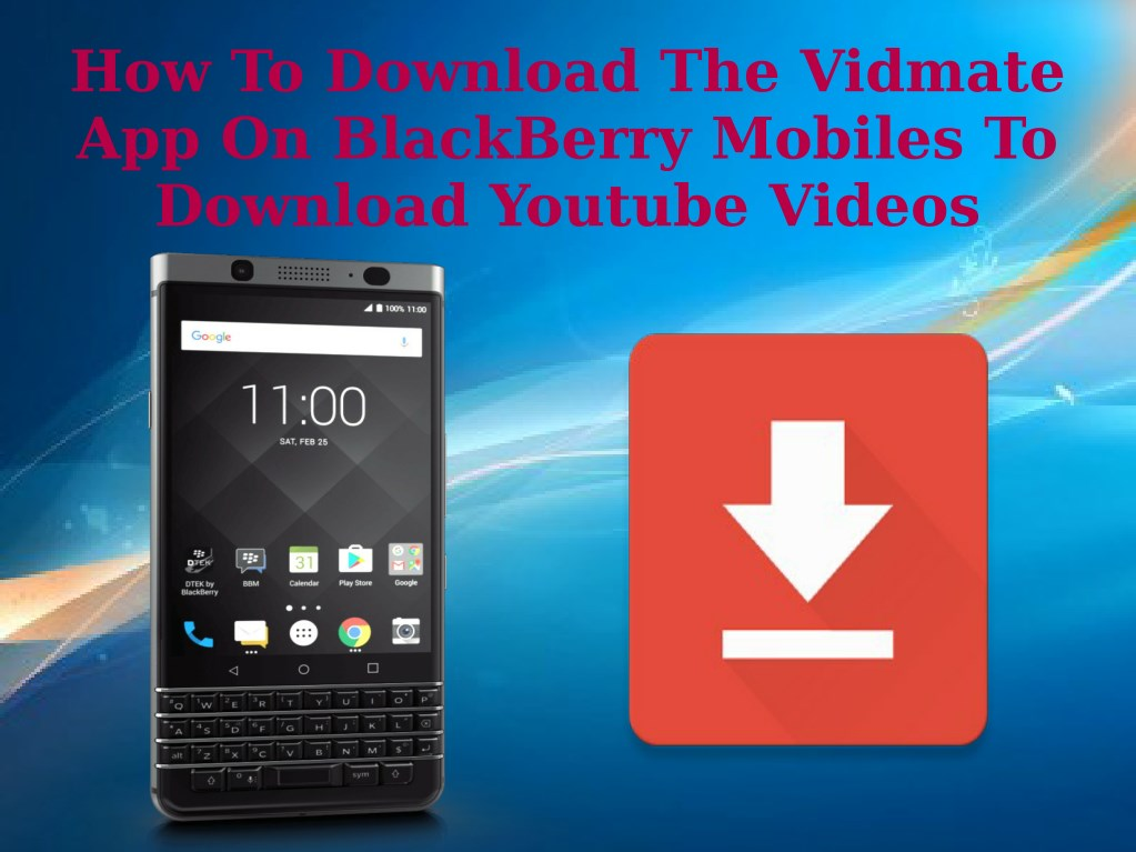 Lesson 50: how to download youtube videos to your blackberry.