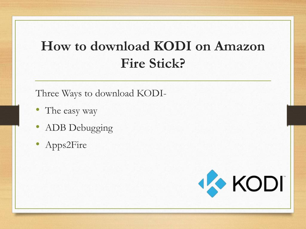 PPT - KODI Installation Process and Support PowerPoint Presentation