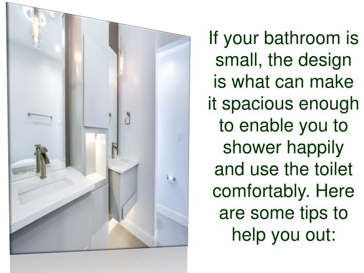 Ppt Tips And Tricks For Small Bathroom Renovation