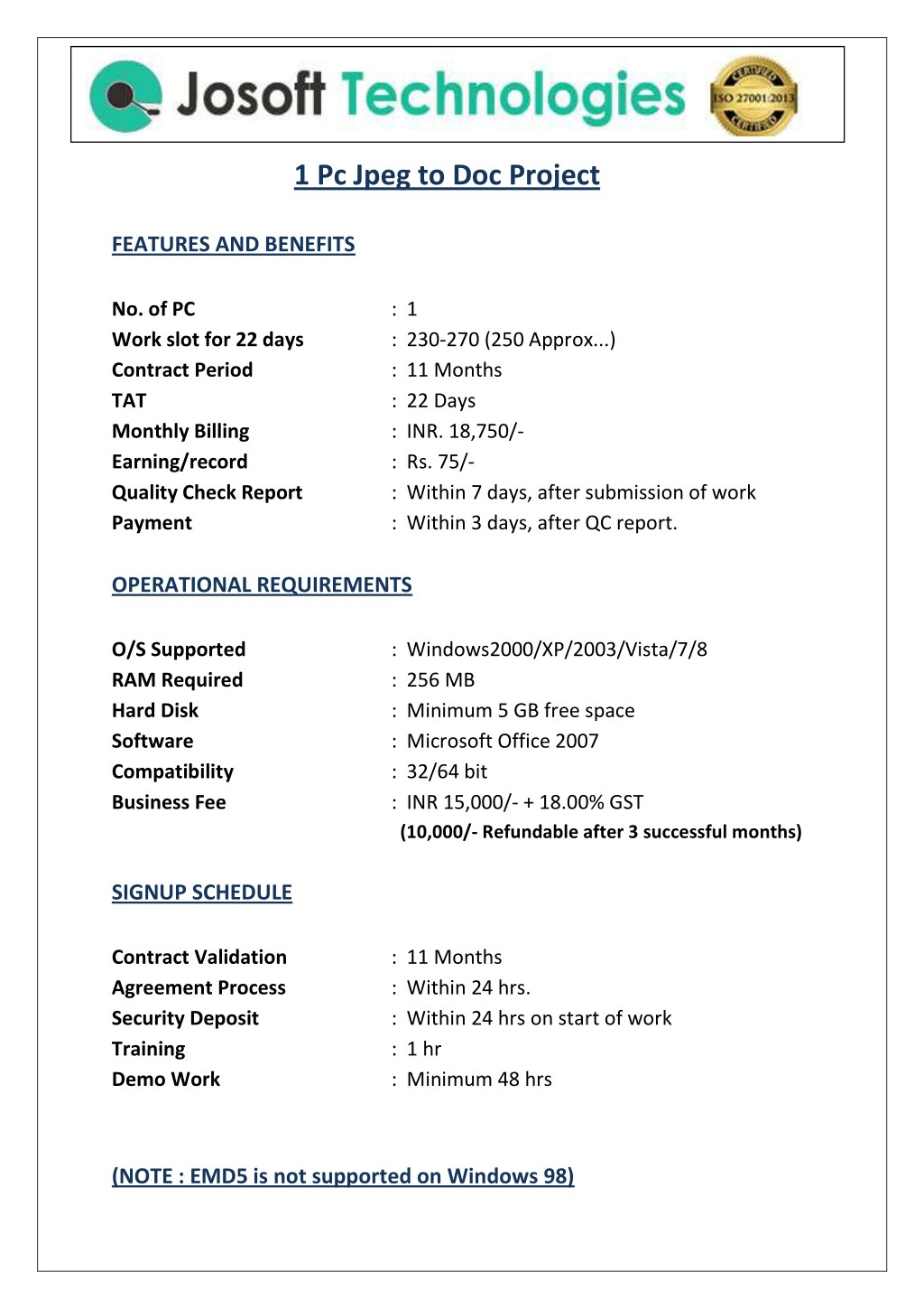 PPT - 1pc jpg to doc conversion data entry project