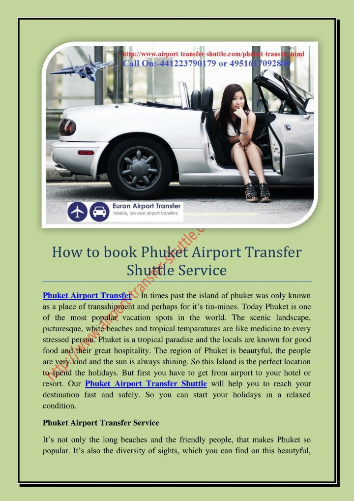 how to book phuket airport transfer shuttle n.
