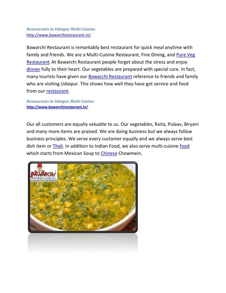 Restaurants in udaipur multi cuisine http