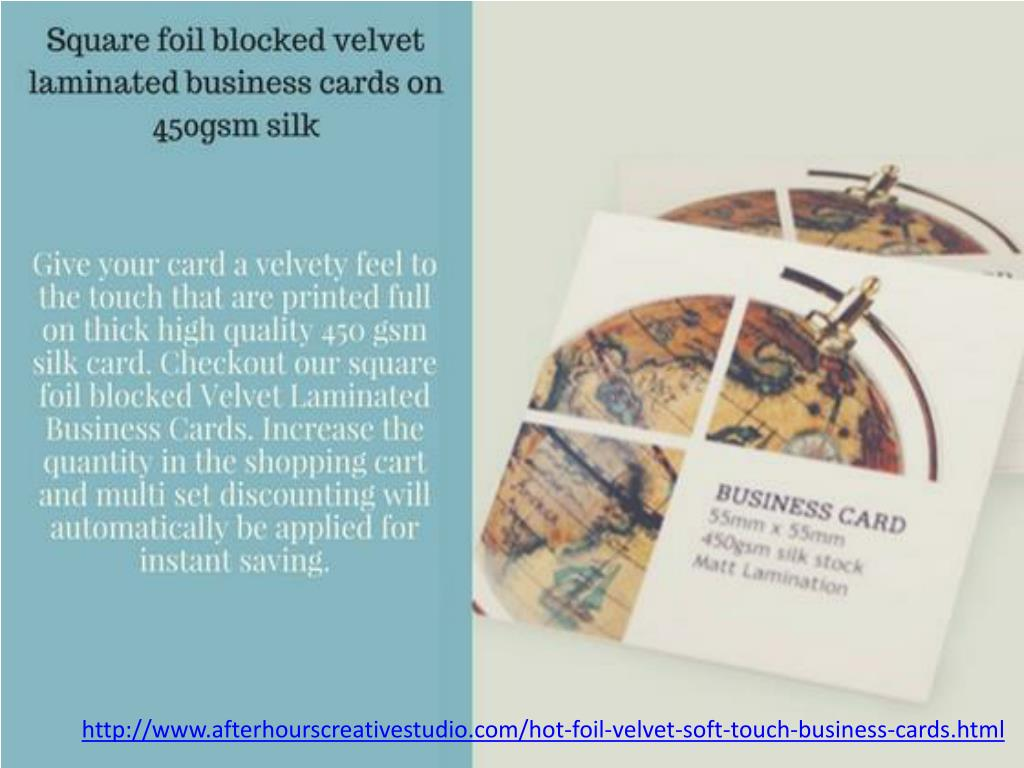 PPT - Great Discounts on Velvet Laminated Business Cards