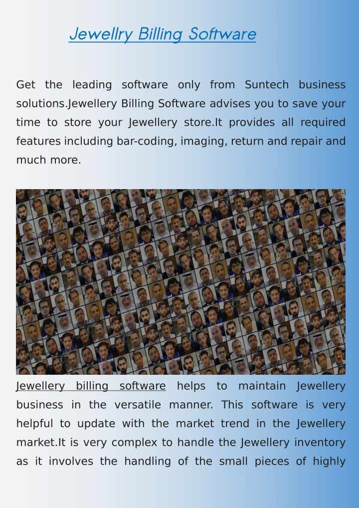 jewellry billing software n.