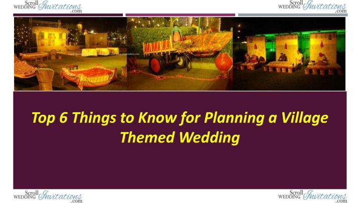 top 6 things to know for planning a village n.