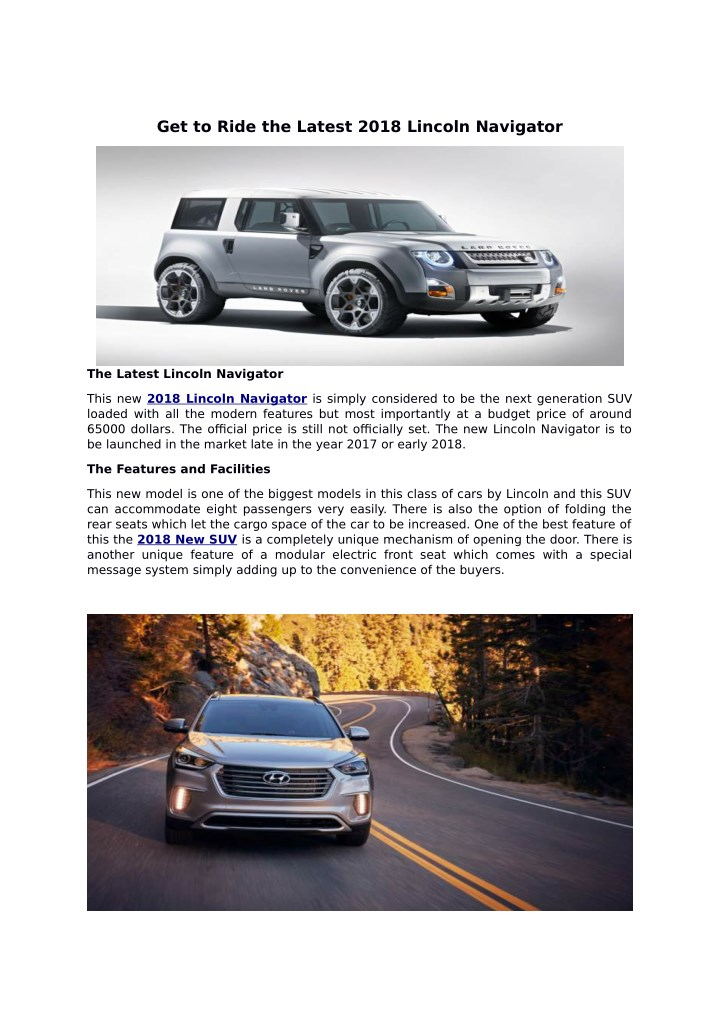 get to ride the latest 2018 lincoln navigator n.