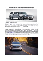 get to ride the latest 2018 lincoln navigator