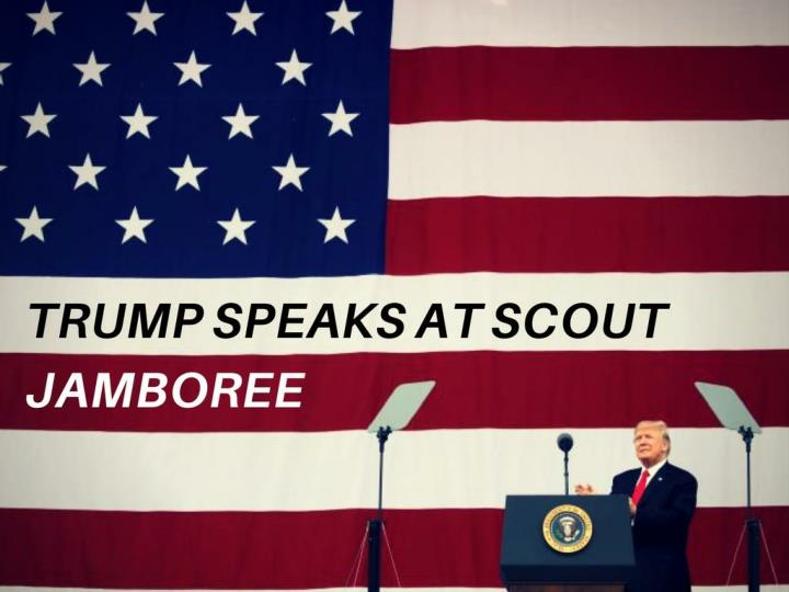 trump speaks at scout jamboree n.