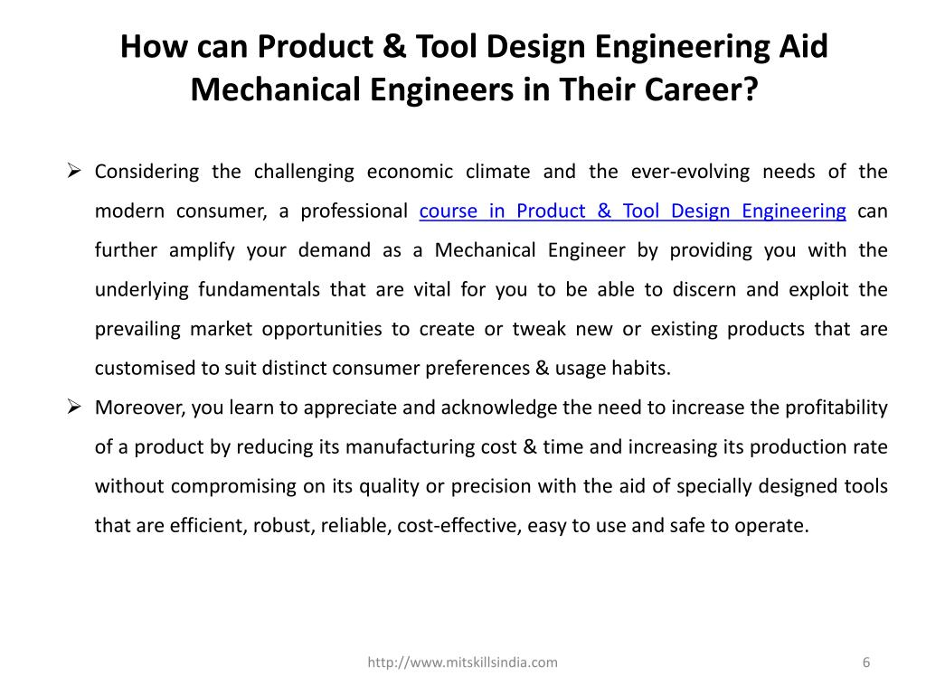 PPT - Role of Product & Tool Design Engineering & Its