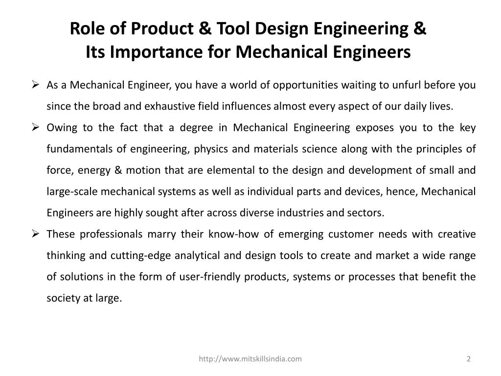 Ppt Role Of Product Tool Design Engineering Its Importance For Mechanical Engineers Powerpoint Presentation Id 7641785