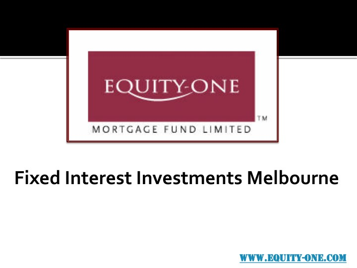 fixed interest investments melbourne n.