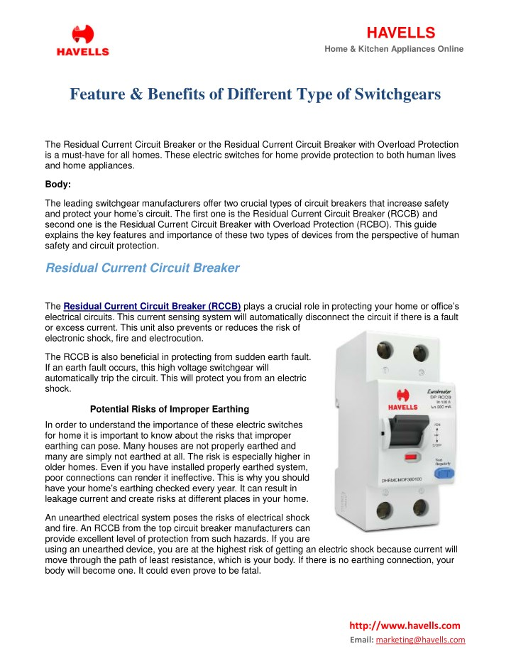PPT - Feature & Benefits Of Different Type Of Switchgears PowerPoint ...