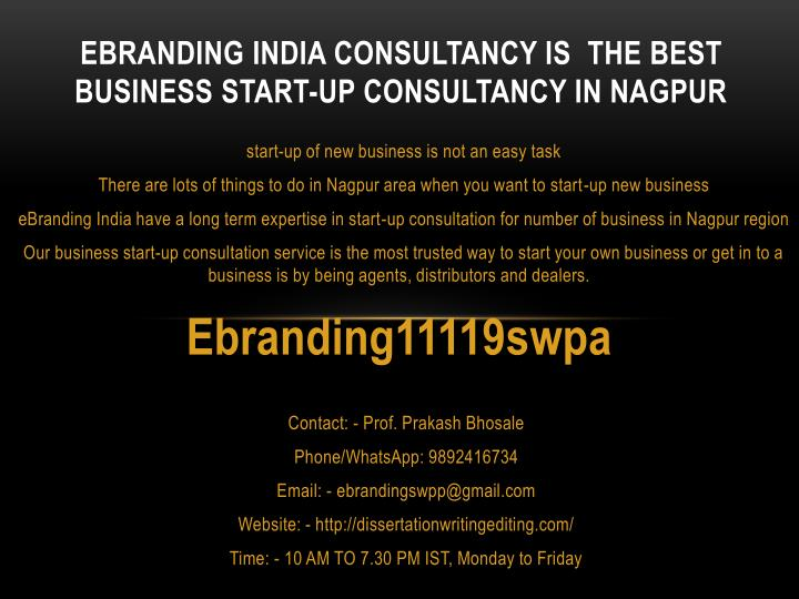 ebranding india consultancy is the best business start up consultancy in nagpur n.