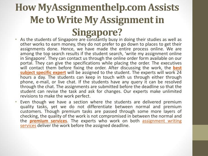 who can write my assignment for me Who is going to write my assignments for me if you are wondering can someone write me an assignment, then you will be delighted to find out that our team at edubirdiecom consists of the most qualified and experienced writers all specialists have a university diploma and are native.