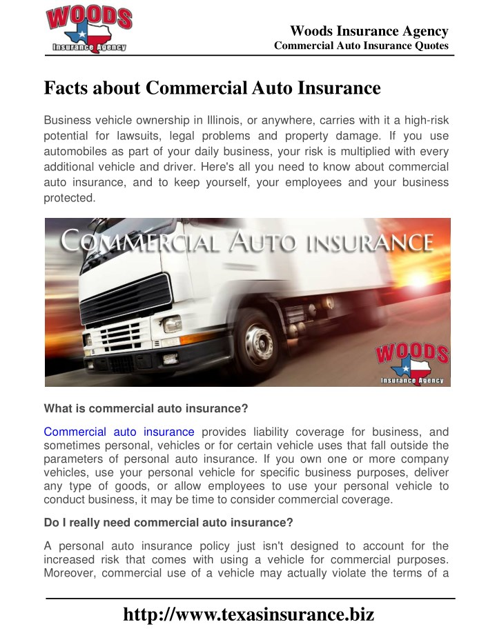High Risk Auto Insurance >> Ppt Facts About Commercial Auto Insurance Powerpoint