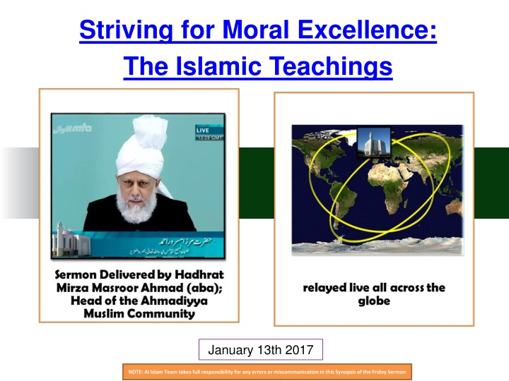 striving for moral excellence the islamic n.
