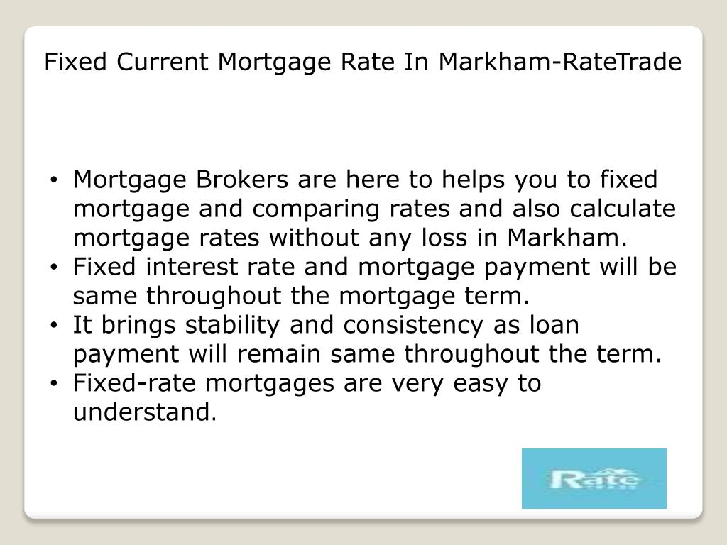 Ppt Fixed Current Mortgage Rate In Markham Powerpoint