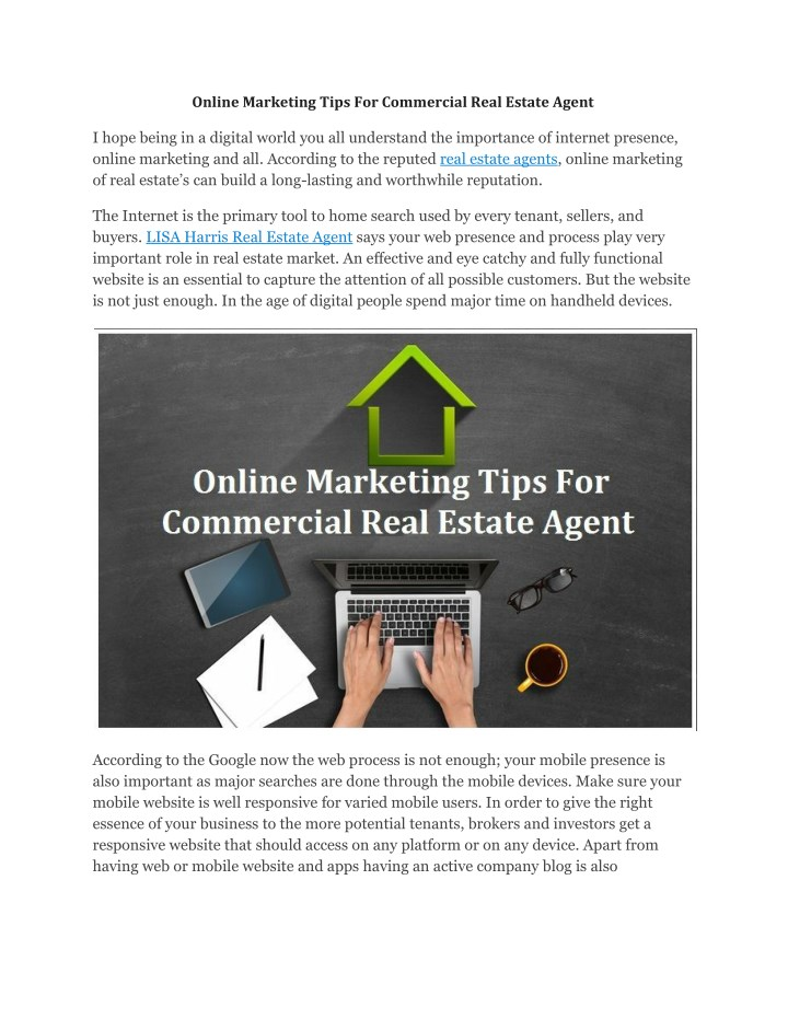 PPT - Online Marketing Tips For Commercial Real Estate Agent