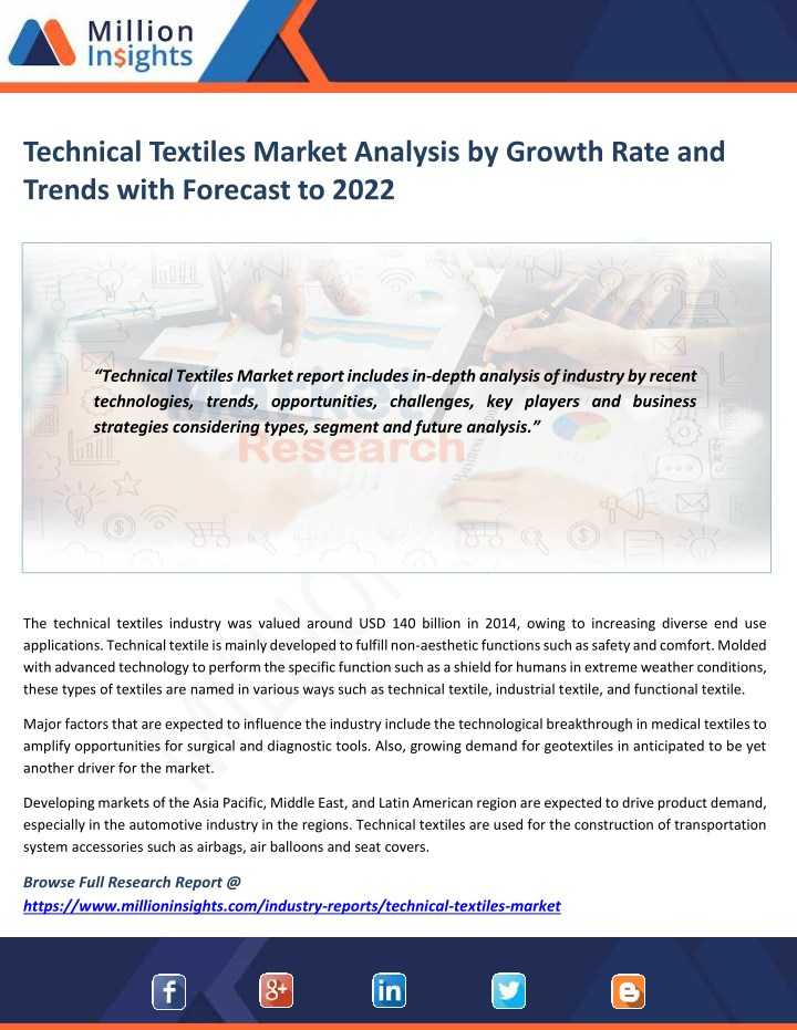 PPT - Technical Textiles Market Analysis by Growth Rate and Trends