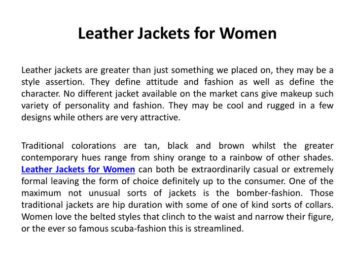 leather jackets for women n.