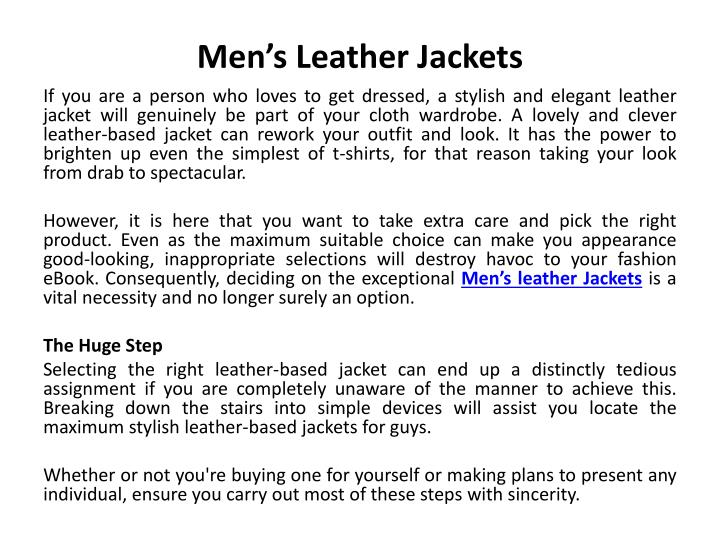 men s leather jackets n.